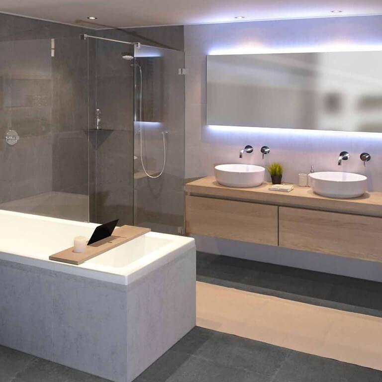 Van der klipbadkamers leerdam badkamers leerdam for Badkamer ontwerp maken